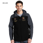J335WB - EMB - HOODED CORE SOFT SHELL JACKET